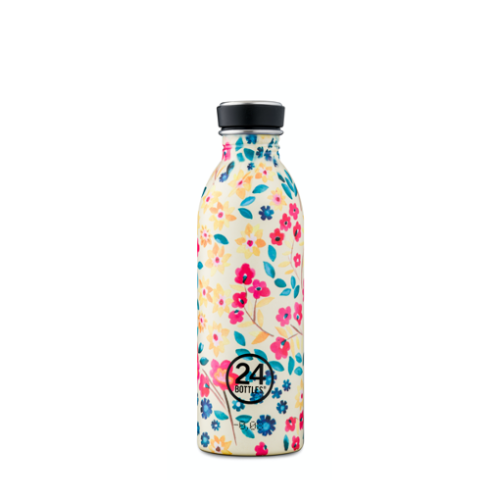 Botella 24Bottles Urban Petit Jardin, 500 ml, estampado, acero inoxidable, BPA Free