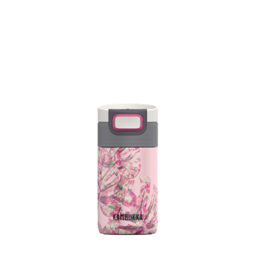 Vaso Termico Kambukka Etna Monstera Leaves 11-01019, 300 ml, estampado, acero inoxidable, BPA free