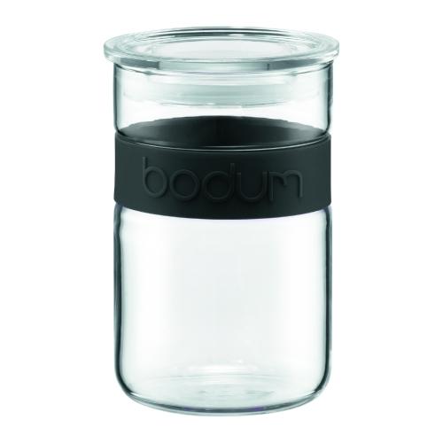 Tarro Bodum Presso 11129-01, 600  ml, cristal-negro