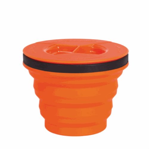 Vaso Plegable c/ Tapa Sea To Summit XSeal & Go, 215 ml, naranja, silicona BPA Free