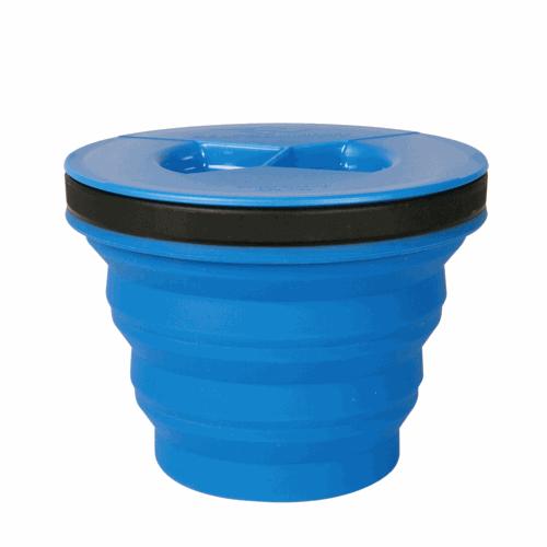 Vaso Plegable c/ Tapa Sea To Summit XSeal & Go, 415 ml, azul, silicona BPA Free