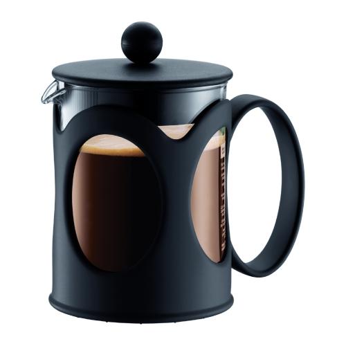 Cafetera Bodum KENYA 10683-01, 500 ml, negro, cristal borosilicato / plástico