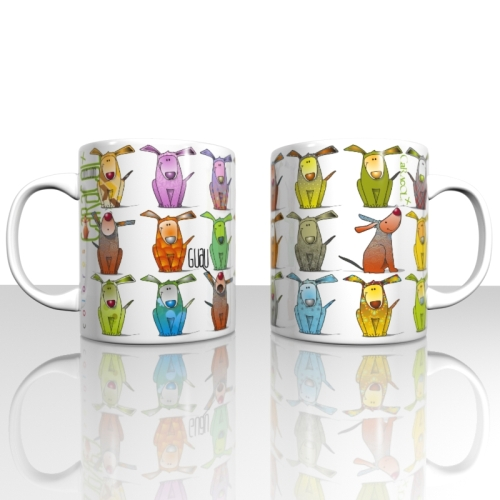 Taza / Mug Caracol Somos Perros, 330 ml, porcelana