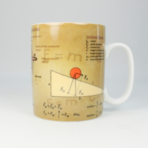 Taza / Mug Könitz Knowledge Physics, 450 ml, porcelana