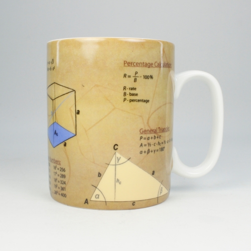 Taza / Mug Könitz Knowledge Math, 450 ml, porcelana