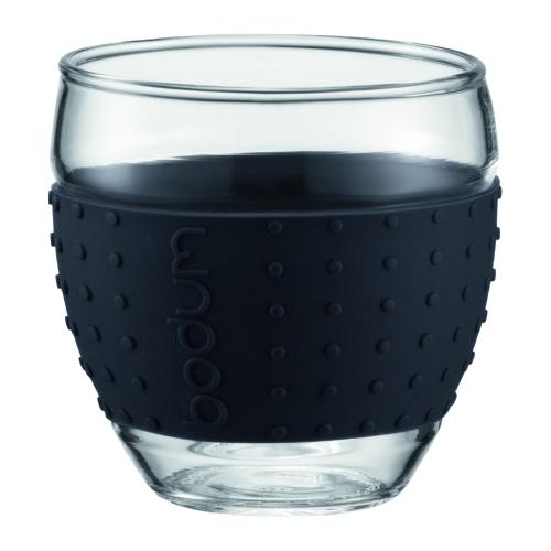 Vasos Bodum Pavina 11185-01, set 2, 350 ml, borosilicato, negro