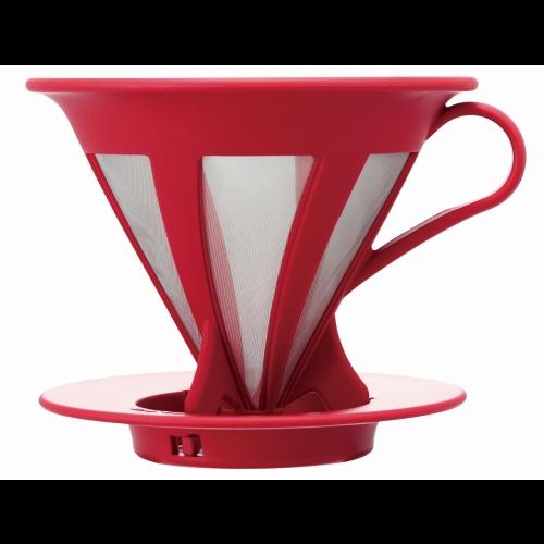 Filtro Café Goteo Hario Caféor CFOD-02-R, rojo