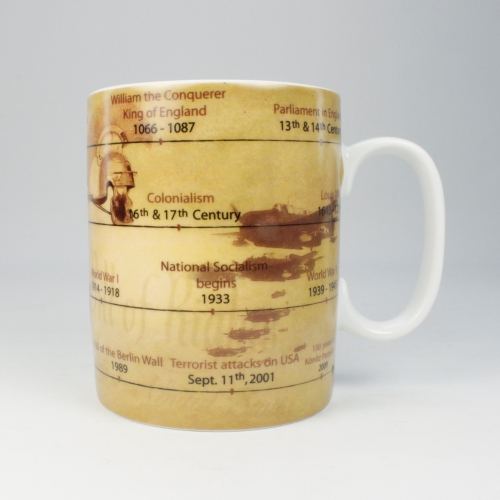 Taza / Mug Könitz Knowledge History, 450 ml, porcelana