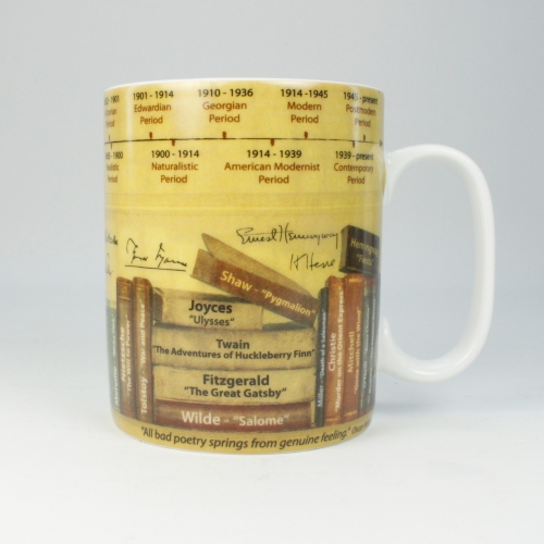 Taza / Mug Könitz Knowledge Literature, 450 ml, porcelana