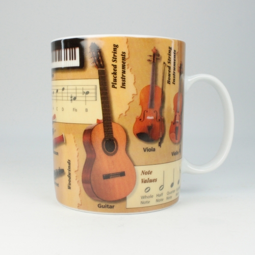 Taza / Mug Könitz Knowledge Music, 450 ml, porcelana