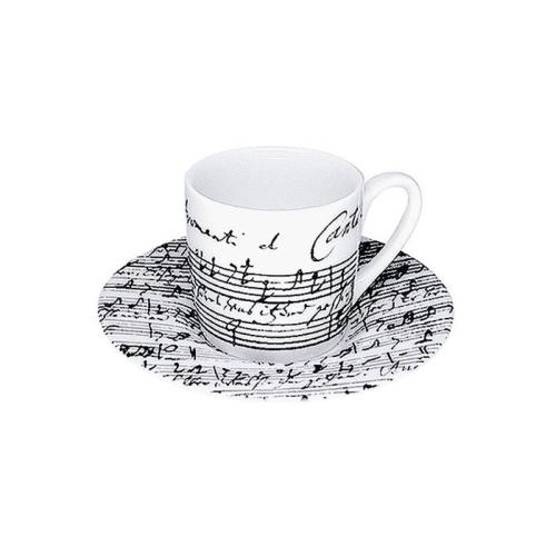 Taza c/ Plato Espresso Könitz Cantata, 80 ml, porcelana