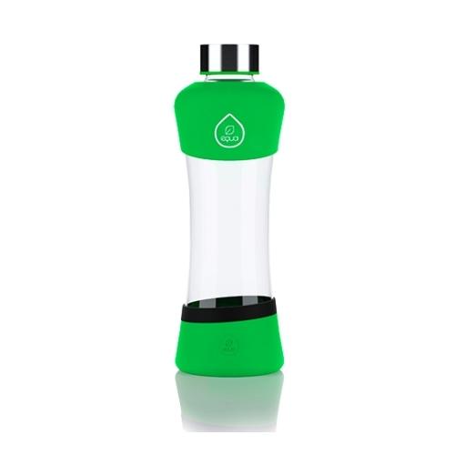 Botella Equa Squeeze Active, 550 ml, verde, borosilicato