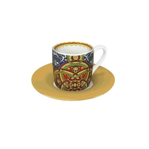 Taza c/plato Espresso Könitz Al Hambra 3, 80 ml, porcelana