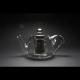 Tetera Cristal Fuego, 200 ml, acero inoxidable- borosilicato
