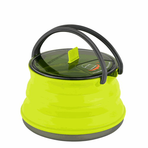 Calentador / Hervidor Plegable Sea To Summit XKettle, 1.300 ml, verde, silicona/aluminio anodizado BPA Free