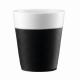 Vaso Bodum Bistro 11582-01, set 2, 300 ml, negro, porcelana