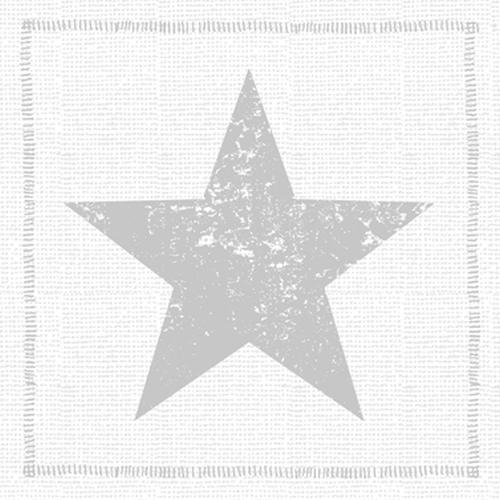 Servilleta PPD Start Fashion Silver, 330 x 330 mm