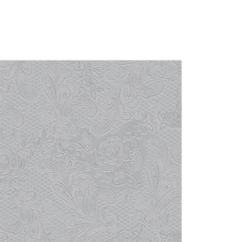 Servilleta PPD Lace Embossed Silver, 250 x 250 mm