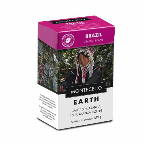 Café Montecelio Earth Brasil , grano, 250 g