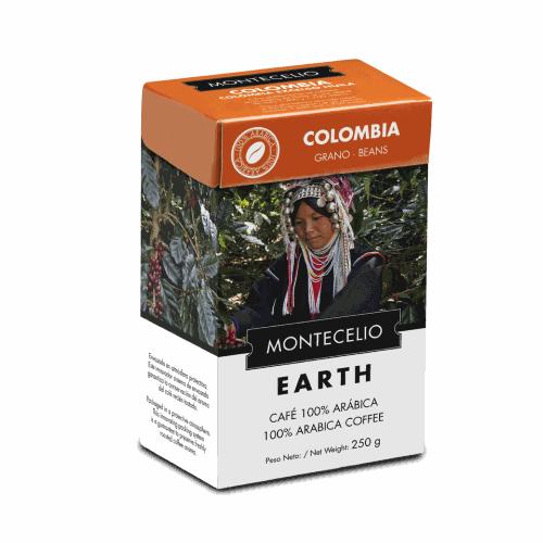 Café Montecelio Earth Colombia, grano, 250 g