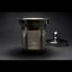 Tetera Cristal Fuego, 800 ml,  acero inoxidable-borosilicato