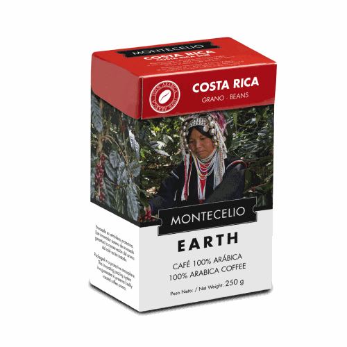 Café Montecelio Earth Costa Rica, grano, 250 g