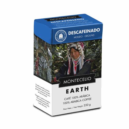 Café Montecelio Earth Descafeínado, molido, 250 g