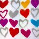 Servilleta PPD Paper Hearts, 250 x 250 mm
