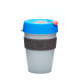 Vaso Reutilizable KeepCup Ash, 340 ml, azul/grafito/gris, plástico BPA Free