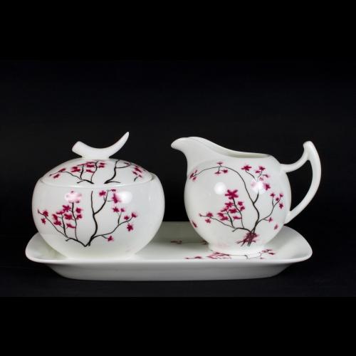 Lechera & AzucareraTea Logic Cerezo set, 250 ml, porcelana
