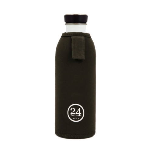 Funda Térmica 24Bottles Urban, 500 ml, negro, neopreno