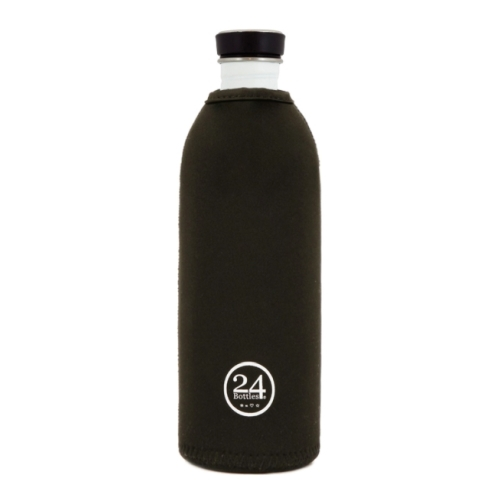 Funda Térmica 24Bottles Urban, 1.000 ml, negro, neopreno