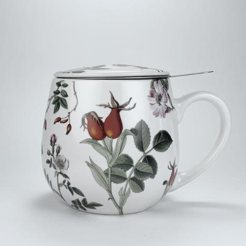 Taza c/ Filtro Könitz Snuggle RoSil, 380 ml, porcelana