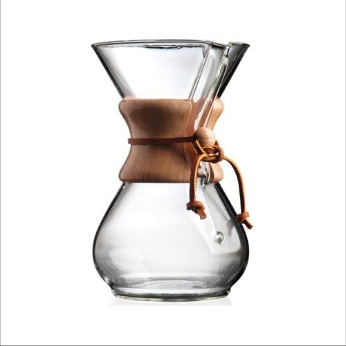Cafetera Chemex Classic CM-6A, 6 tazas, 880 ml, cristal borosilicaro/ madera