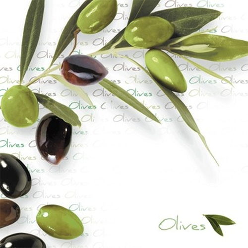 Servilleta PPD Green Olives, 250 x 250 mm