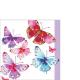Servilleta PPD Aquarell Butterflies, 250 x 250 mm
