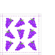 Servilleta PPD Fashion Grapes Purpel, 250 x 250 mm