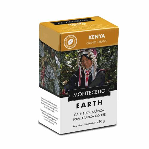 Café Montecelio Earth Kenya, grano, 250 g