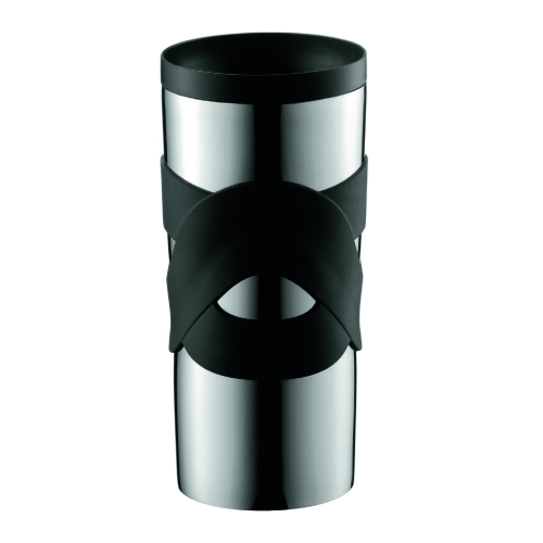 Vaso Térmico Bodum Travel Mug 11043-01, 350 ml, acero inoxidable, negro