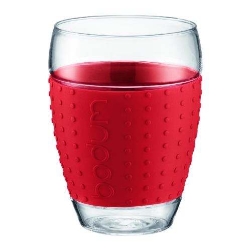 Vasos Bodum Pavina 11166-294, 450 ml, set 2, rojo, borosilicato