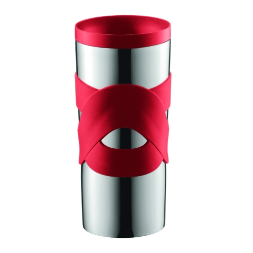 Vaso Térmico Bodum Travel Mug 11043-294, 350 ml, acero  inoxidable, rojo