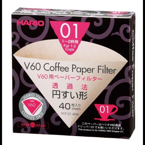 Filtro de Papel Hario 01 VCF-01-40M, marrón, 40 unidades