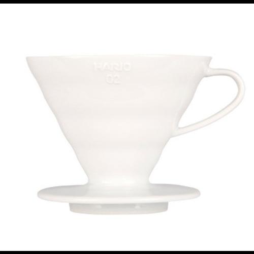 Cono Goteo Hario V60 02 VDC-02W, cerámica, blanco