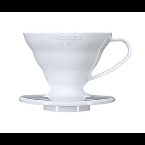 Cono Goteo Hario V60 01 VD-01W, metacrilato, blanco