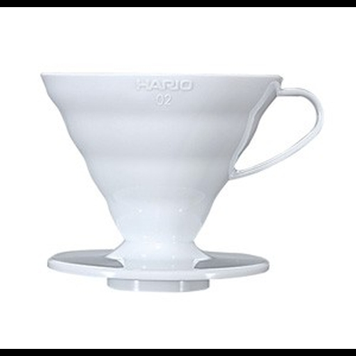 Cono Goteo Hario V60 02 VD-02W, metacrilato, blanco