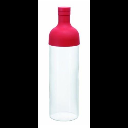 Botella Maceración Hario FIB-75-R, 750 ml, cristal-silicona, rojo
