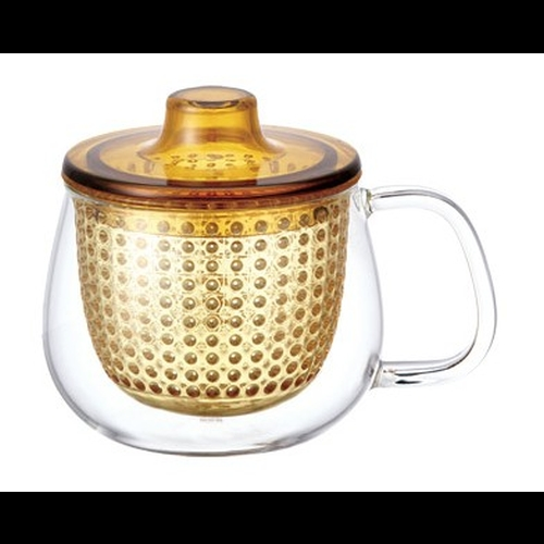 Taza c/ Filtro Kinto Unimug, 350 ml, ambar