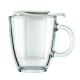 Taza c / Ffiltro Bodum Yo-Yo Set K11239-913, 350  ml, blanco