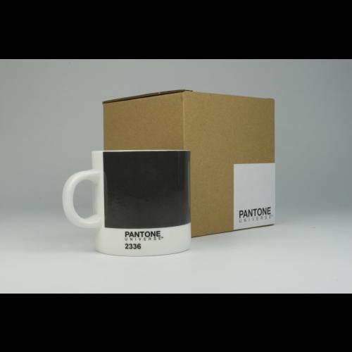 Taza Espresso Pantone Gris 2336, 100 ml, porcelana