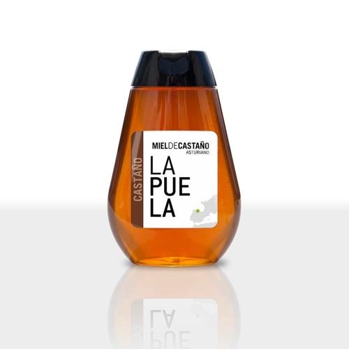 Miel La Puela Castaño, dosificador, 350 g